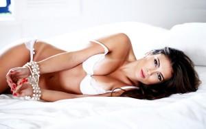 Brazilian Women in white lingerie is Beautiful
