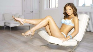 Nikki Sanderson hot model in lingerie
